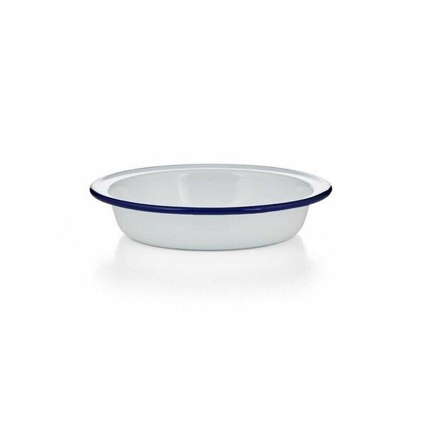 Emaille Schälchen weißblau16cm Ofenform