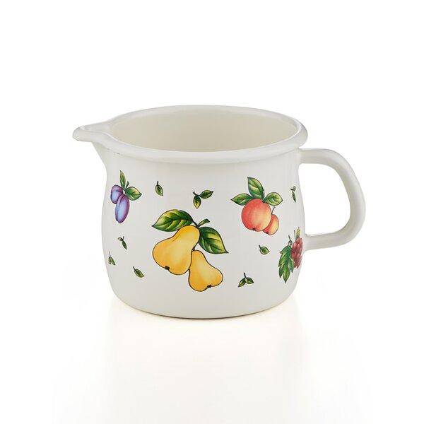 Emaille Riess Schnabeltopf  Fruit Garden 1 Liter