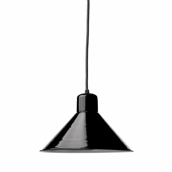 Gics Emaille Lampe Tiefstrahler 250 schwarz