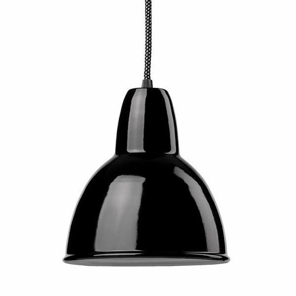 Emaille Lampe 170 Tiefstrahler schwarz