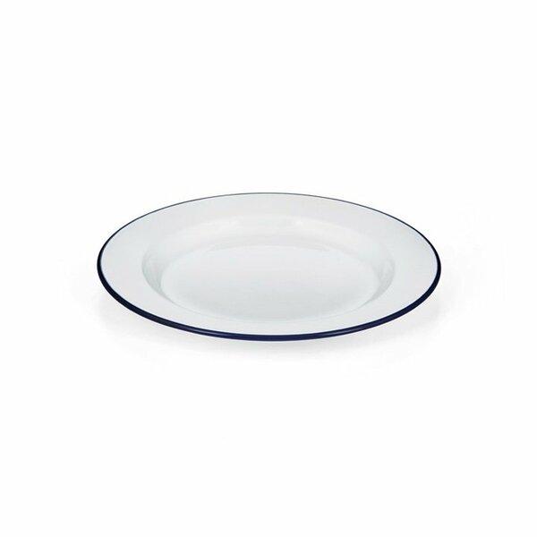 Emaille Teller flach weiß 24cm