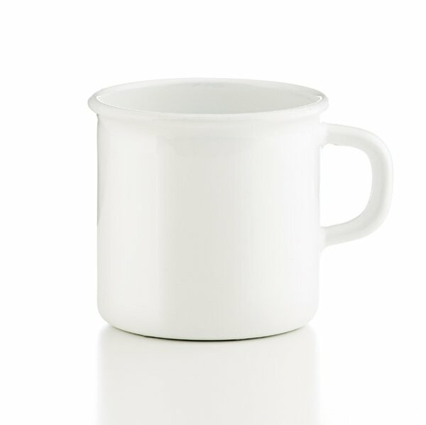 Riess Topf mit Bördel Tasse weiß 3/8 Liter